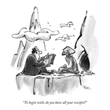 """""""To begin with  do you have all your receipts"""" - New Yorker Cartoon"""