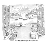 """""""This is a side of Manhattan you don't often see"""" - New Yorker Cartoon"""