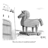 """How do we know it's not full of consultants"" - New Yorker Cartoon"