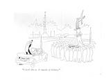 """I don't like it It smacks of trickery"" - New Yorker Cartoon"