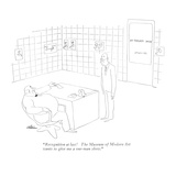 """""""Recognition at last! The Museum of Modern Art wants to give me a one-man …"""" - New Yorker Cartoon"""