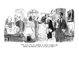 """I'm sorry  I'm not speaking to anyone tonight My defense mechanisms seem…"" - New Yorker Cartoon"