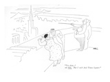 """""""Yes dear  I see him But I can't find Times Square"""" - New Yorker Cartoon"""