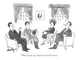 """When I grow up  I hope to win the lottery"" - New Yorker Cartoon"