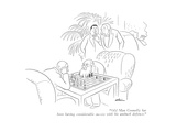 """""""Old Man Connelly has been having considerable success with his ambush def…"""" - New Yorker Cartoon"""