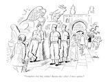 """""""Straighten that hat  soldier! Button that collar! I have spoken"""" - New Yorker Cartoon"""