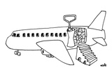 Sardine can plane - New Yorker Cartoon