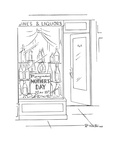 Mothers' Day sign in liquor store - New Yorker Cartoon