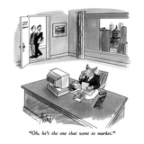 """""""Oh  he's the one that went to market"""" - New Yorker Cartoon"""