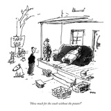"""How much for the couch without the potato"" - New Yorker Cartoon"