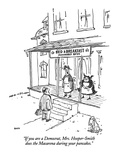 """""""If you are a Democrat  Mrs Hooper-Smith does the Macarena during your pa…"""" - New Yorker Cartoon"""