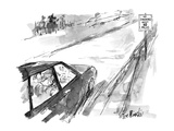 "Road sign says ""No smoking next 10 miles"" - New Yorker Cartoon"