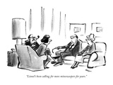 """""""Lionel's been calling for more minesweepers for years"""" - New Yorker Cartoon"""