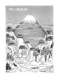 Views of FujiTitleLarge drawing of Mt Fuji with 10 factories nearby on … - New Yorker Cartoon