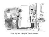 """Here they are  Live from Lincoln Center"" - New Yorker Cartoon"