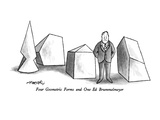 Four Geometric Forms and One Ed Brummelmeyer - New Yorker Cartoon