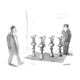 Man selling America's cup trophies on the street - New Yorker Cartoon