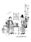 """On a street corner  under a sign  """"Meet the Author  9:30-12:30 """" a young w… - New Yorker Cartoon"""