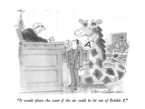 """""""It would please the court if the air could be let out of exhibit A"""" - New Yorker Cartoon"""
