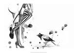 White Stripes, The Reproduction d'art par Lora Zombie