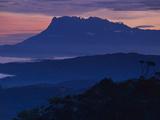 Mount Kinabalu at Dawn  Sabah  Borneo