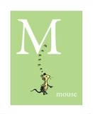M is for Mouse (green) Reproduction d'art par Theodor (Dr. Seuss) Geisel