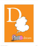 D is for Dream (orange)