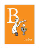 B is for Barber (orange)