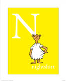 N is for Nightshirt (yellow)