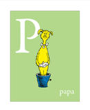 P is for Papa (green)