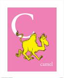 C is for Camel (pink) Reproduction d'art par Theodor (Dr. Seuss) Geisel