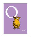 O is for Owl (purple) Reproduction d'art par Theodor (Dr. Seuss) Geisel