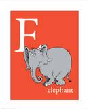 E is for Elephant (red) Reproduction d'art par Theodor (Dr. Seuss) Geisel
