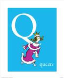 Q is for Queen (blue)