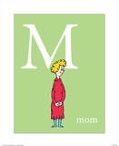 M is for Mom (green) Reproduction d'art par Theodor (Dr. Seuss) Geisel