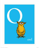 O is for Owl (blue)