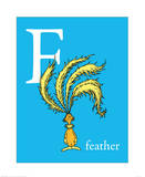 F is for Feather (blue)
