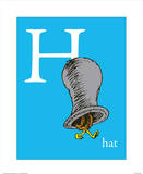H is for Hat (blue)