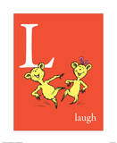 L is for Laugh (red)