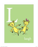 L is for Laugh (green)