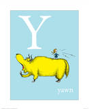 Y is for Yawn (blue)