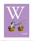 W is for Wash (purple) Reproduction d'art par Theodor (Dr. Seuss) Geisel