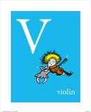 V is for Violin (blue)