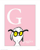 G is for Goggles (pink)