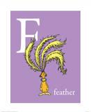 F is for Feather (purple) Reproduction d'art par Theodor (Dr. Seuss) Geisel