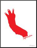 California Love (red on white)