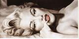 Marilyn allongée Tableau sur toile par Frank Ritter