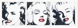 Triptyque Marilyn Tableau sur toile par Irene Celic