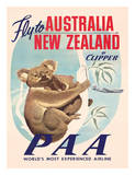 Fly to Australia and New Zealand c.1950s Giclée