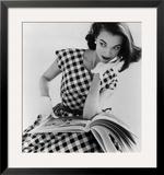 Helen Bunney in a Dress by Blanes  1957